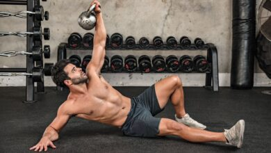 5 Workouts Using Only A Kettlebell